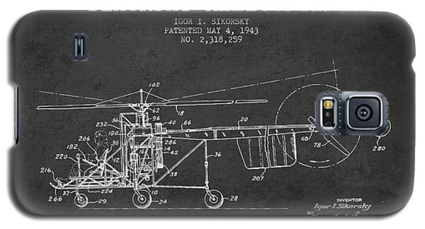 Sikorsky Helicopter Patent Drawing From 1943 Galaxy S5 Case by Aged Pixel