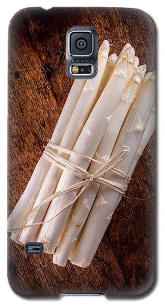 White Asparagus Galaxy S5 Case by Aberration Films Ltd