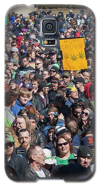 Legalisation Of Marijuana Rally Galaxy S5 Case by Jim West