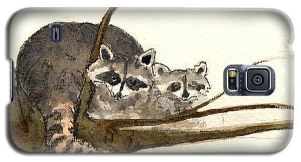 Raccoon Galaxy S5 Case by Juan  Bosco