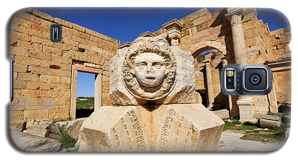 Sculpted Medusa Head At The Forum Of Severus At Leptis Magna In Libya Galaxy S5 Case by Robert Preston