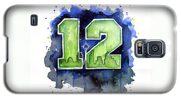 12th Man Seahawks Art Seattle Go Hawks Galaxy S5 Case by Olga Shvartsur