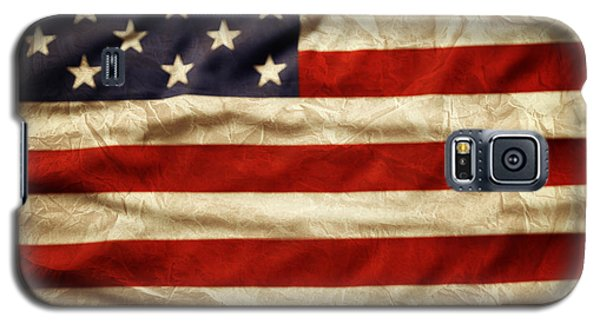 Landmarks Galaxy S5 Cases - American flag Galaxy S5 Case by Les Cunliffe