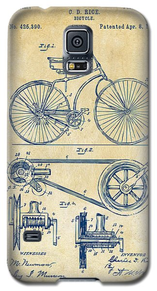 1890 Bicycle Patent Artwork - Vintage Galaxy S5 Case by Nikki Marie Smith
