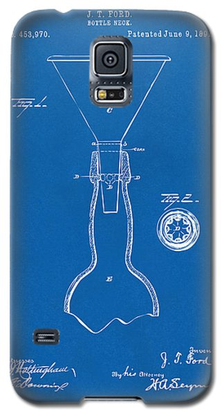 1891 Bottle Neck Patent Artwork Blueprint Galaxy S5 Case by Nikki Marie Smith