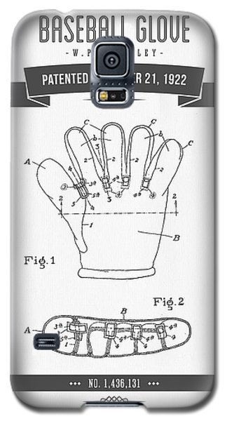 1922 Baseball Glove Patent Drawing Galaxy S5 Case by Aged Pixel