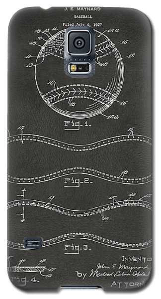 1928 Baseball Patent Artwork - Gray Galaxy S5 Case by Nikki Marie Smith