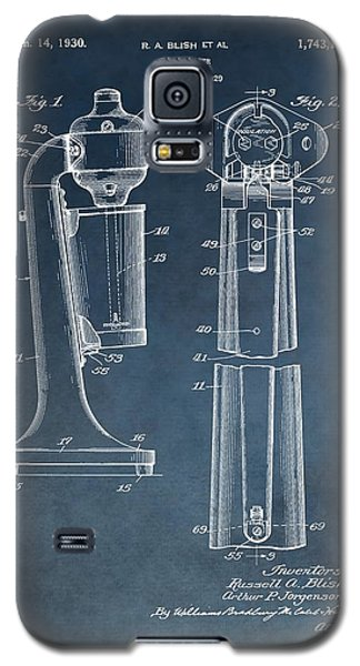 1930 Drink Mixer Patent Blue Galaxy S5 Case by Dan Sproul