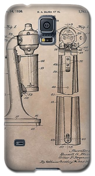 1930 Drink Mixer Patent Galaxy S5 Case by Dan Sproul
