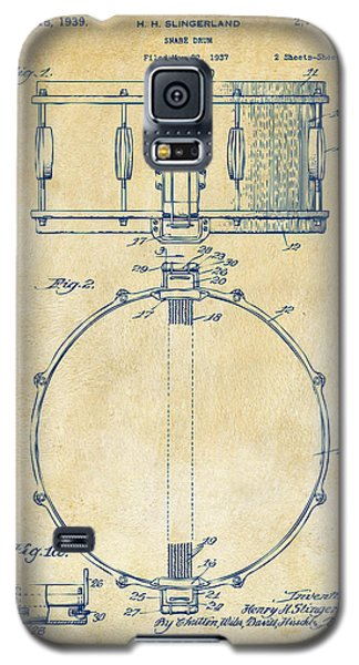 1939 Snare Drum Patent Vintage Galaxy S5 Case by Nikki Marie Smith