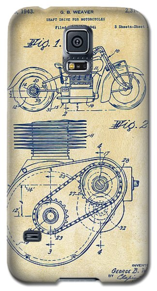 1941 Indian Motorcycle Patent Artwork - Vintage Galaxy S5 Case by Nikki Marie Smith