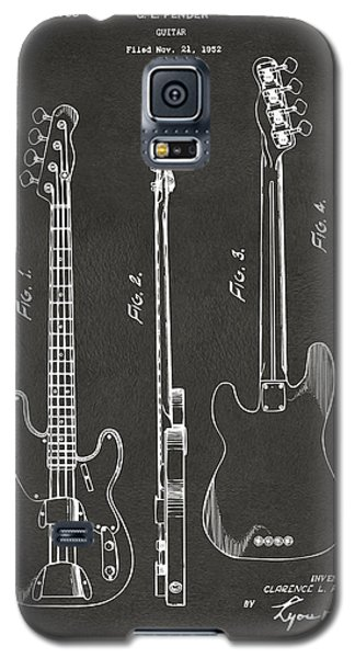 1953 Fender Bass Guitar Patent Artwork - Gray Galaxy S5 Case by Nikki Marie Smith