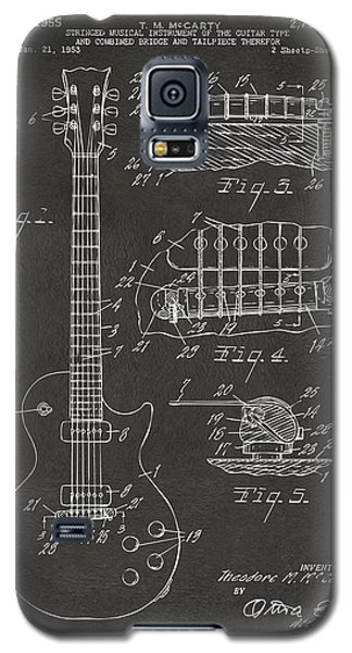 1955 Mccarty Gibson Les Paul Guitar Patent Artwork - Gray Galaxy S5 Case by Nikki Marie Smith