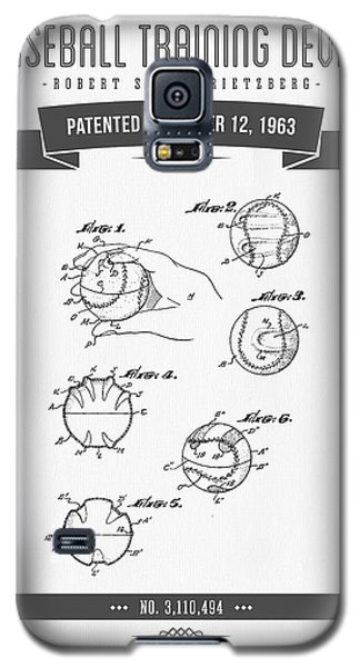 1963 Baseball Training Device Patent Drawing Galaxy S5 Case by Aged Pixel