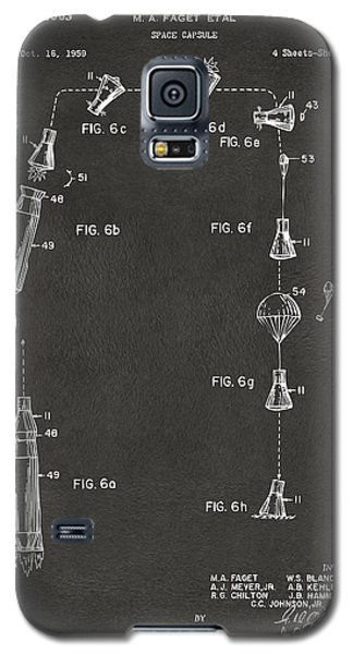 1963 Space Capsule Patent Gray Galaxy S5 Case by Nikki Marie Smith