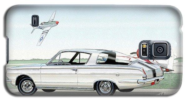 1965 Barracuda  Classic Plymouth Muscle Car Galaxy S5 Case by John Samsen