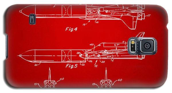 1975 Space Vehicle Patent - Red Galaxy S5 Case by Nikki Marie Smith