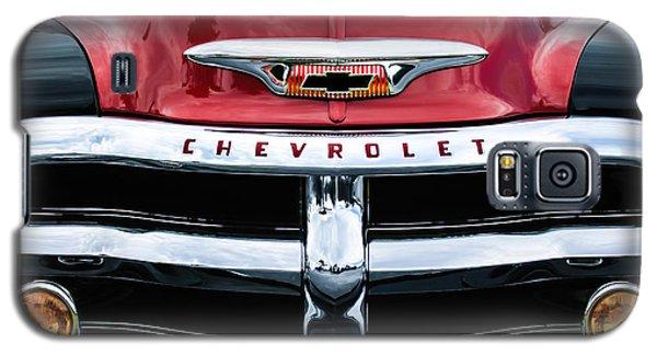 1955 Chevrolet 3100 Pickup Truck Grille Emblem Galaxy S5 Case by Jill Reger