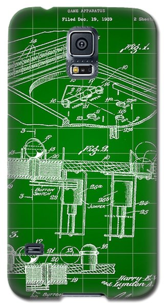 Pinball Machine Patent 1939 - Green Galaxy S5 Case by Stephen Younts