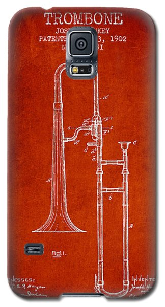 Trombone Patent From 1902 - Red Galaxy S5 Case by Aged Pixel