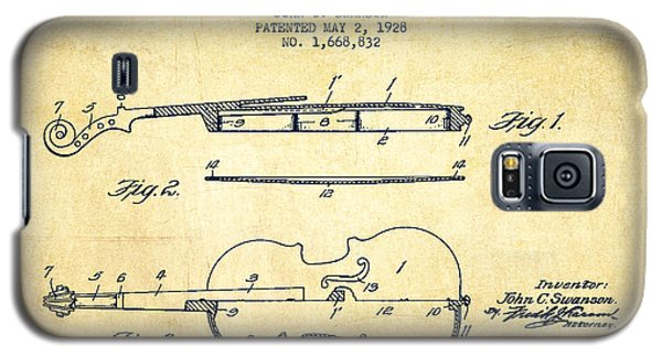 Violin Patent Drawing From 1928 Galaxy S5 Case by Aged Pixel