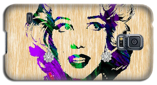 Marilyn Monroe Diamond Earring Collection Galaxy S5 Case by Marvin Blaine