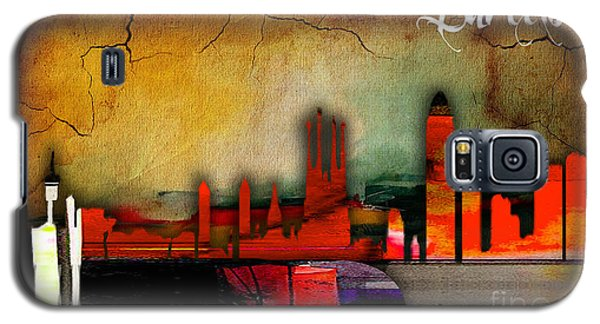 Barcelona Spain Skyline Watercolor Galaxy S5 Case by Marvin Blaine