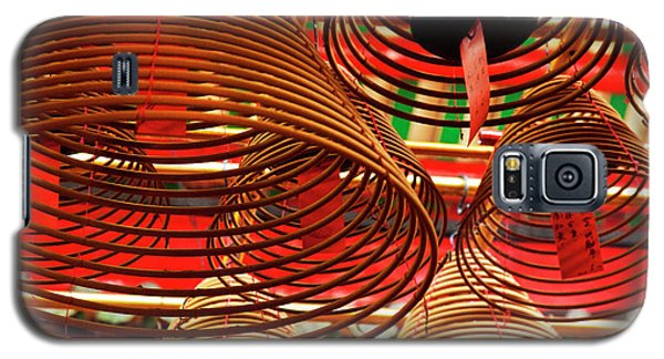 China, Hong Kong, Spiral Incense Sticks Galaxy S5 Case by Terry Eggers
