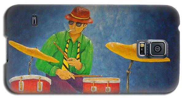 Jazz Drummer Galaxy S5 Case by Pamela Allegretto