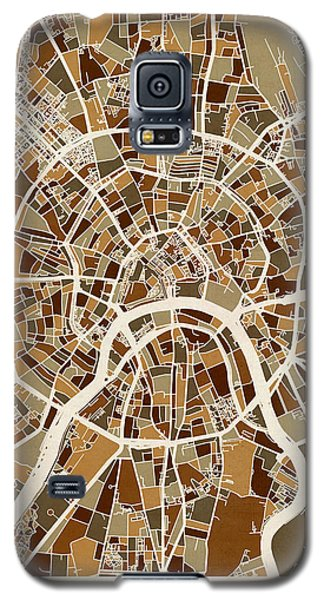 Moscow City Street Map Galaxy S5 Case by Michael Tompsett