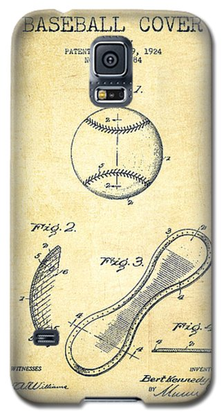Baseball Cover Patent Drawing From 1924 Galaxy S5 Case by Aged Pixel