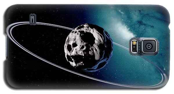 Chariklo Minor Planet And Rings Galaxy S5 Case by Detlev Van Ravenswaay