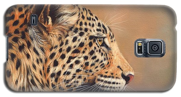 Leopard Galaxy S5 Case by David Stribbling
