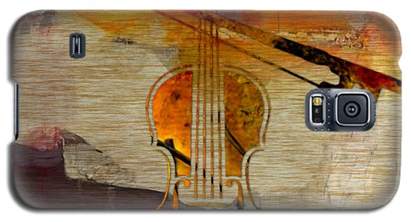 Music Galaxy S5 Cases - Violin and Bow Galaxy S5 Case by Marvin Blaine