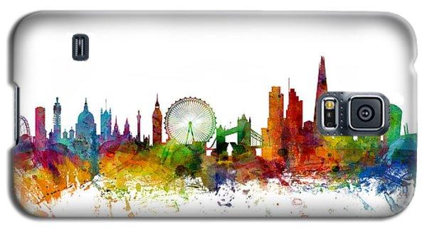 Skylines Galaxy S5 Cases - London England Skyline Galaxy S5 Case by Michael Tompsett