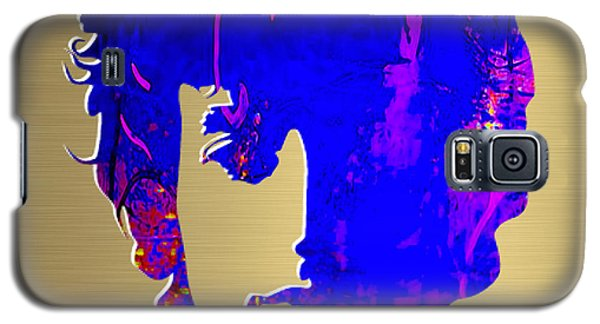 Music Galaxy S5 Cases - Bob Dylan Gold Series Galaxy S5 Case by Marvin Blaine
