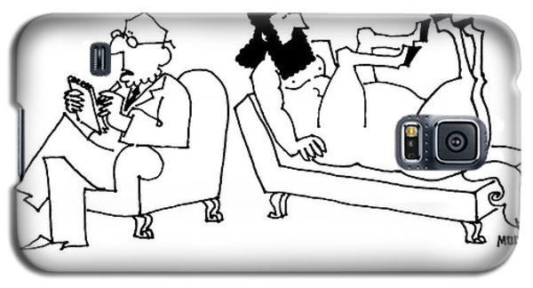 A Centaur Reclines On A Couch. His Psychiatrist Galaxy S5 Case by Ariel Molvig