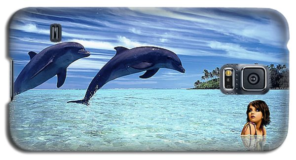 A Dolphins Tale Galaxy S5 Case by Marvin Blaine