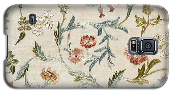 Tapestries - Textiles Galaxy S5 Cases - A Garden Piece Galaxy S5 Case by May Morris