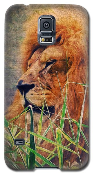A Lion Portrait Galaxy S5 Case by Angela Doelling AD DESIGN Photo and PhotoArt