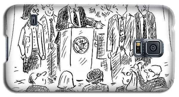 A Politician Speaks At A Podium Galaxy S5 Case by David Sipress