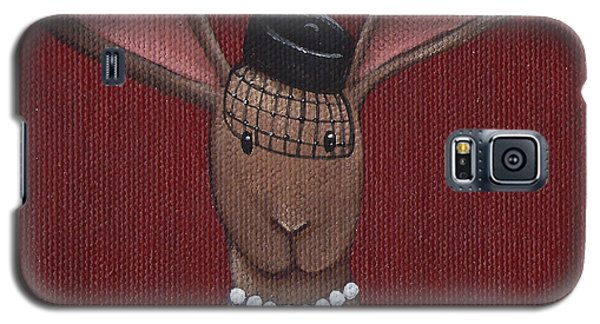 A Sophisticated Bunny Galaxy S5 Case by Christy Beckwith