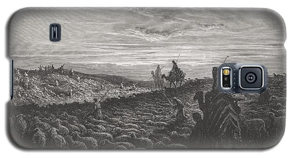 Abraham Journeying Into The Land Of Canaan Galaxy S5 Case by Gustave Dore