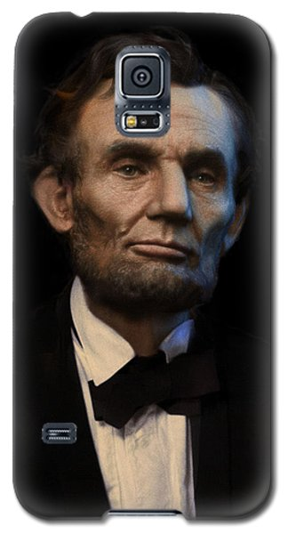 Abraham Lincoln Portrait Galaxy S5 Case by Ray Downing