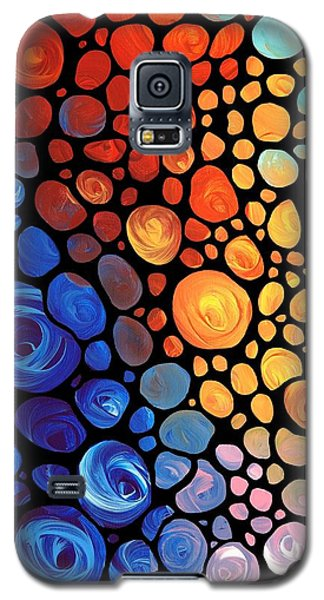 Abstract 1 - Colorful Mosaic Art - Sharon Cummings Galaxy S5 Case by Sharon Cummings