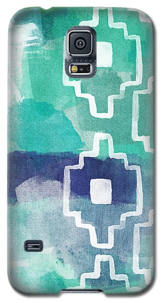 Abstract Aztec- Contemporary Abstract Painting Galaxy S5 Case by Linda Woods