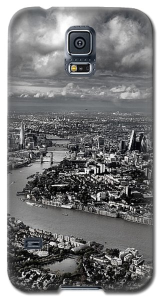 Aerial View Of London 4 Galaxy S5 Case by Mark Rogan