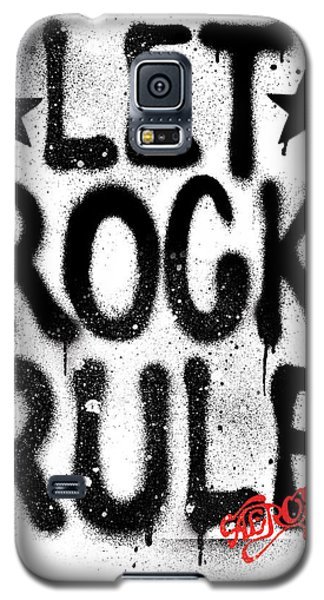 Aerosmith - Let Rock Rule Graffiti Galaxy S5 Case by Epic Rights