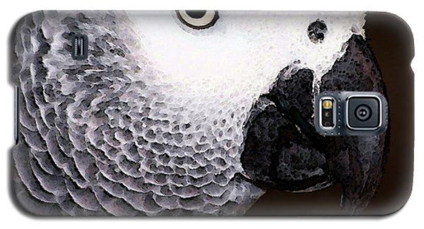 African Gray Parrot Art - Seeing Is Believing Galaxy S5 Case by Sharon Cummings