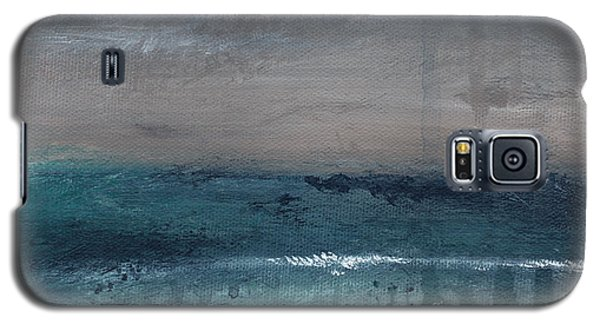 After The Storm- Abstract Beach Landscape Galaxy S5 Case by Linda Woods